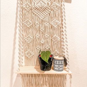 NEW Macrame Plant Shelf